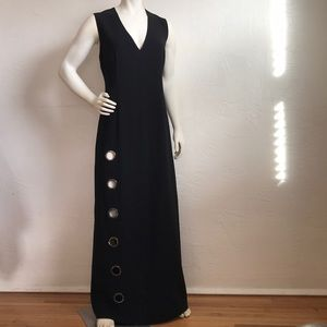 Elie Tahari chic sexy open rings lined maxi